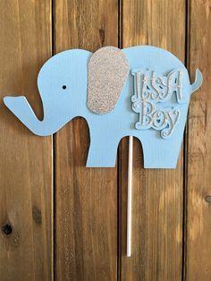 Elefante de torta de cumpleaños centro de mesa elefante