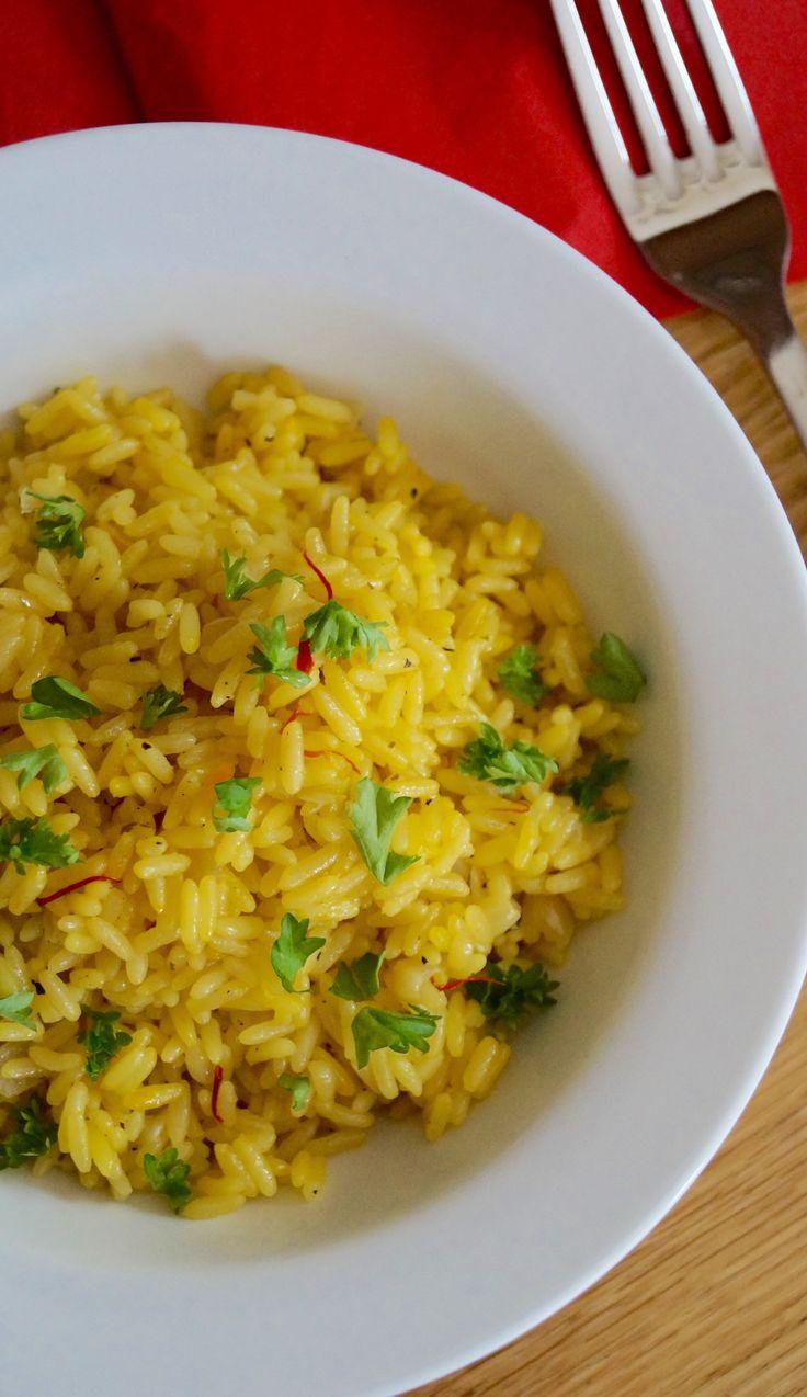 Perfect Saffron Rice @jessbakednext