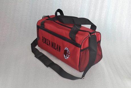 tas duffel AC MILAN - kode barang: DBACM - Harga: 80rb diluar ongkir - spesifikasi: bahan: babyripstop.  dimensi: 40 x 22 x 22 cm. dalam: lapis furing premium. jumlah kantong: 1 kantong utama, 1 kantong depan, 1 kantong jala samping. logo: bordir komputer