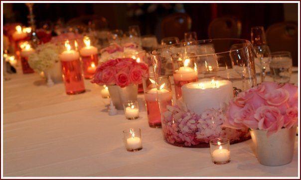 Romantic Wedding Candle Centerpieces   Toronto Muskoka North Bay Wedding Decor Sale Wholesale Vases Candles ...