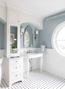 **love the color**Rossi House, Laurie Rossi Interiors - Traditional - Bathroom - New York - Tom Grimes Photography