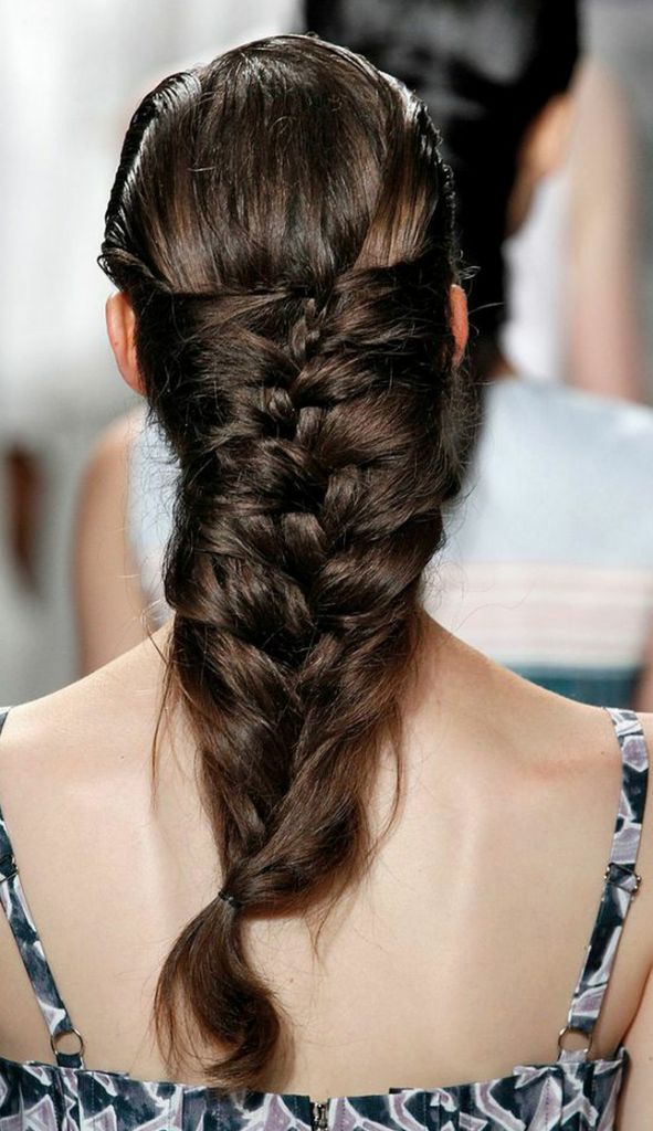 HOW TO: Glossy Cage Herringbone Braid From SUNO Spring 2015 New York Fashion Week Show | Lady and the Blog