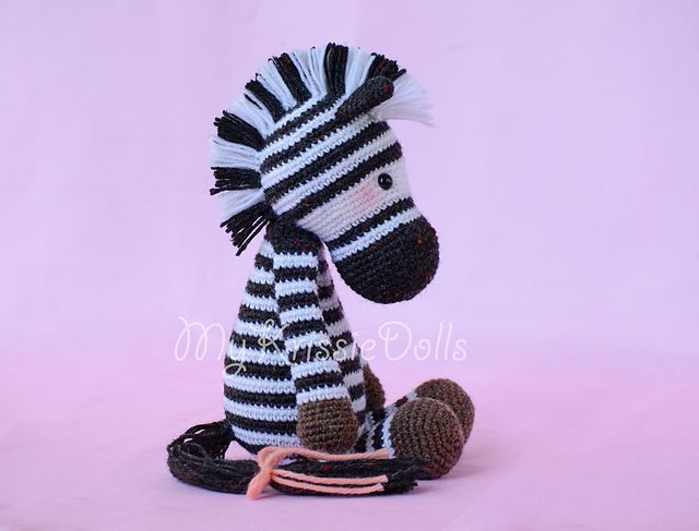 Free Crochet Zebra Patterns : Zebras, Ravelry and Patterns on Pinterest