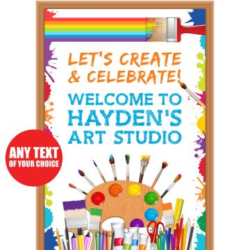 Little Artist GIANT PERSONALIZED Door Sign Party Supplies Canada - Open A Party