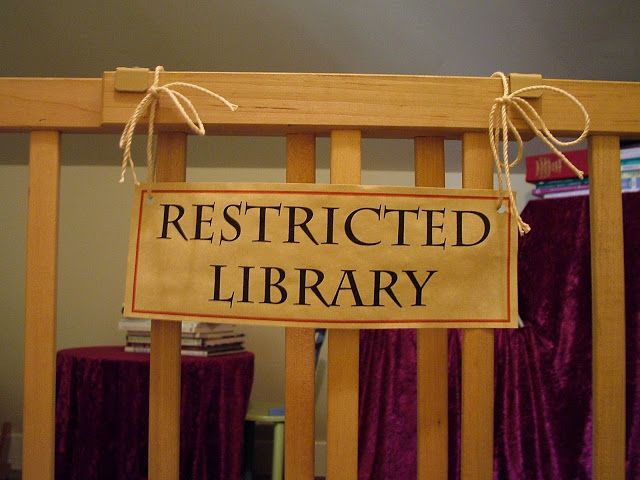 Make the book swap area into the restricted section