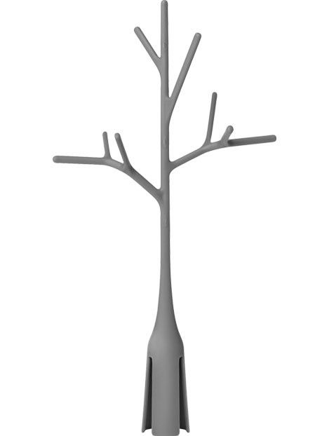 Twig, il ramo utile per l'asciugatura di biberon e di piccoli accessori, utilizzabile in abbinamento con il tappeto scolaposate Grass o Lawn.