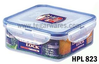 Lock & Lock HPL 823: Size 155 x 155 x 60 mm capacity 870ml 870ml capacity is ideal for food containers as you picnic with the family, suitable for carrying rice or side dishes.
