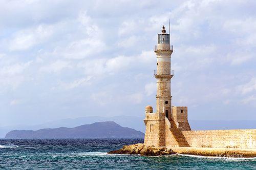 Chania , Lighthouse. Crete Greece    www.liberatingdivineconsciousness.com