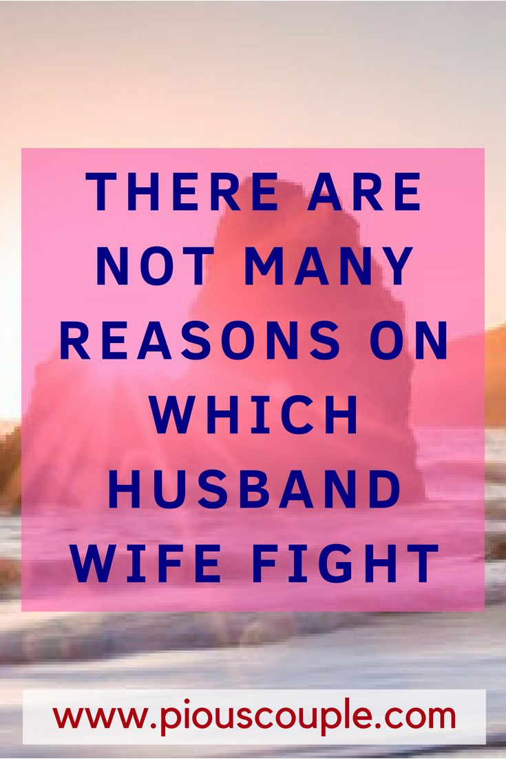 There Are Not Many Reasons On Which Husband Wife Fight Couple