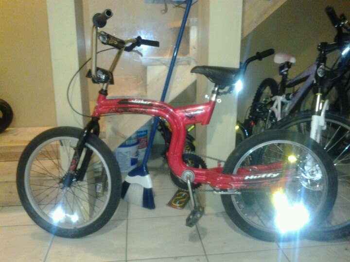 I didn't mean for the pic to turn out like that, but Cool! Its a Huffy Slither Ltd edition BMX, $85 to buy
