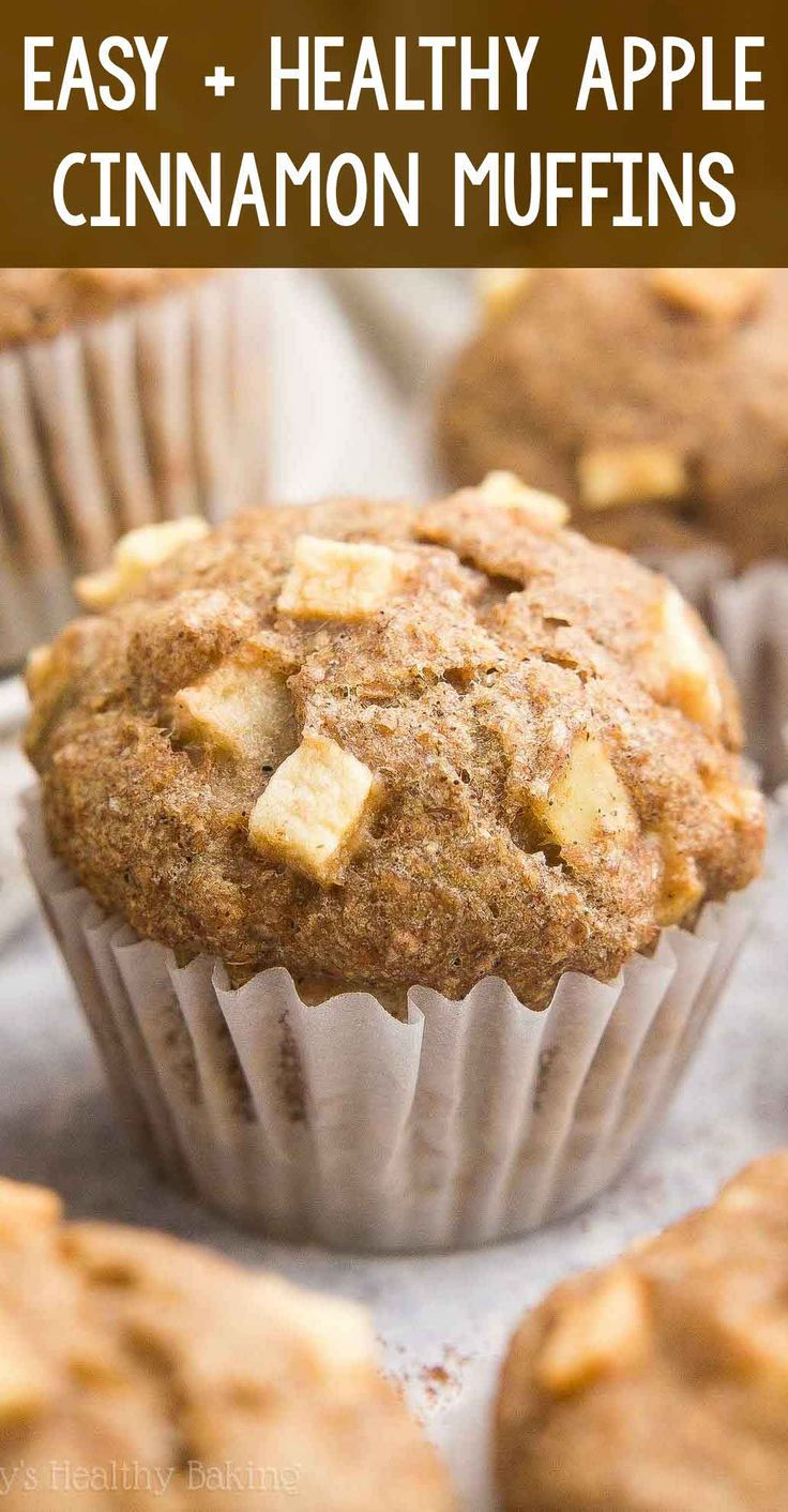 Healthy Cinnamon Apple Mini Muffins they taste like