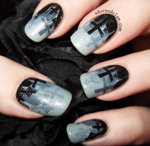 HOW COOL IS THIS?? || Misty Graveyard Nail Art