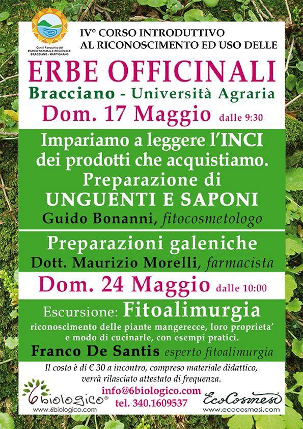 Corso Erbe officinali - Bracciano 2015 Fitocosmesi naturale - preparazioni varie.