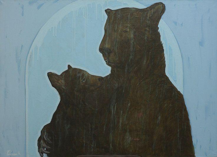 "Приобретайте картину на сайте www.d-mansion.ru ""Медведица"" 100х150см Материалы: холст, акрил  2012 г."