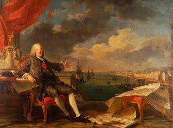 RETRATO DO MARQUÊS DE POMBAL (1766). Óleo sobre tela de Louis-Michel van Loo (1707–1771) e Claude Joseph Vernet (1714–1789). Museu da Cidade, Lisboa.