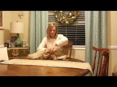Large Burlap Bow Tutorial by knot too shabby - YouTube I just followed her instructions and made a bow for my tree and for the wreath on my front door.  Looks great!