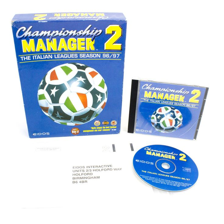 Championship Manager 2: The Italian Leagues Season 96/97, Big Box, 1996
