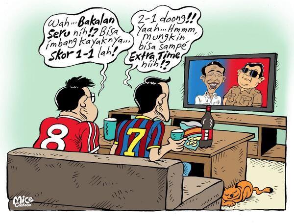 Mice Cartoon, InfoJakarta #KomikJakarta: Mana lebih seru? Capres atau World Cup?