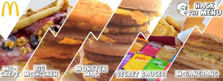 McDonalds secret menu! See how to order and more information about all of McDonalds Secret Menu Items at HackTheMenu.com ! #McGangBang