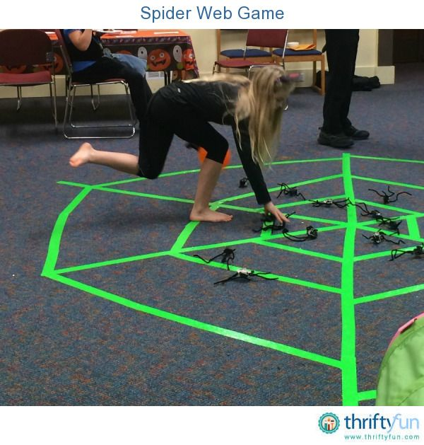 spider web halloween game - Halloween Games To Play At School