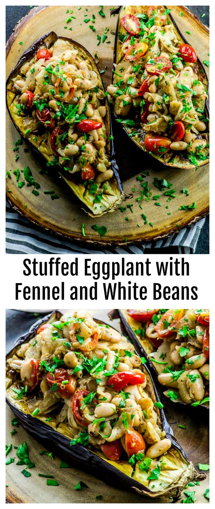 Stuffed Eggplant with Fennel and White Beans via @…Edit description