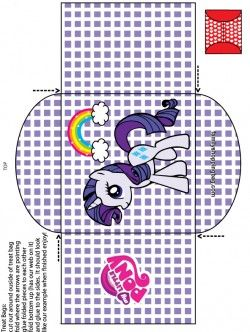 {free} printable My Little Pony Candy Bag 4