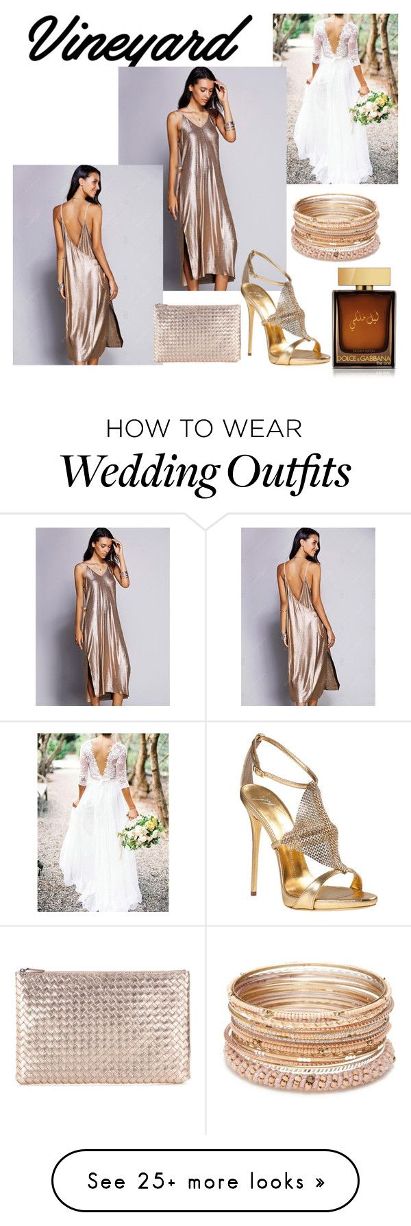 """Vineyard Wedding Guest"" by lgreenst on Polyvore featuring Giuseppe Zanotti, Red Camel, Bottega Veneta, Dolce&Gabbana, napa, winerywedding, bestdressedguest and vineyardwedding"