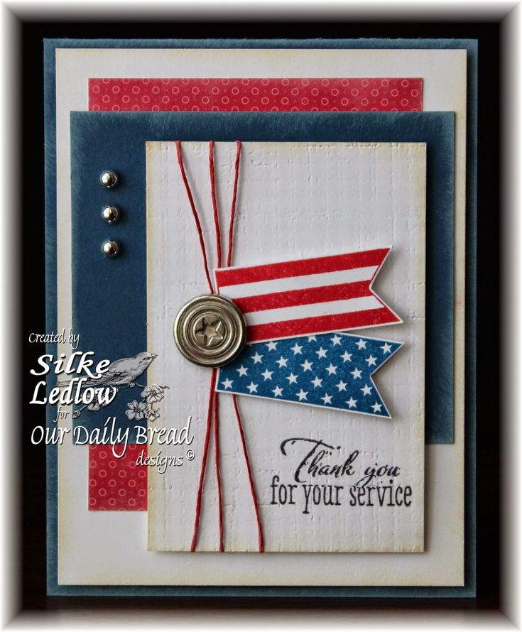 Thank You for your service patriotic card
