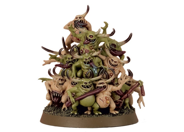 Nurglings for the Warhammer game by Games Workshop.
