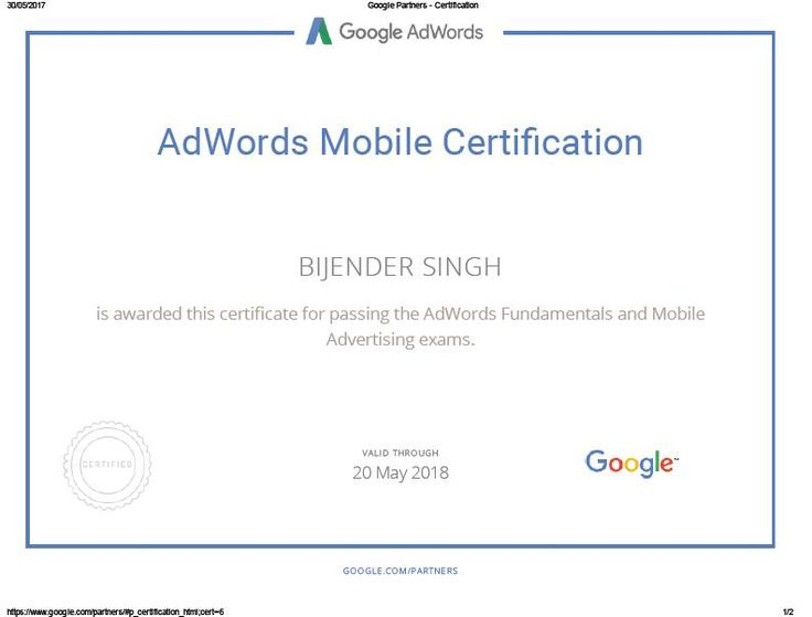 #digitalmarketing #adwords #ppc #sem #certified #certification #bijenderdigital