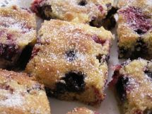 Blueberry squares - gluten-free, wheat-free, sugar-free, yeast-free, soya-free, peanut-free, vegetarian, lactose-free*, dairy-free*, casein-free*  www.nonaughties.com/recipes