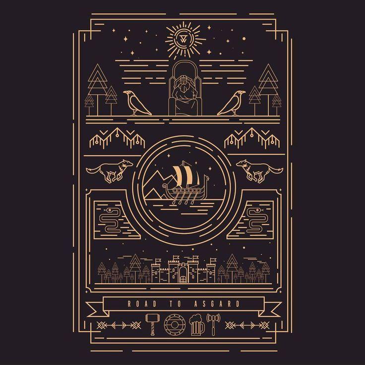 Road to Asgard  #thedesigntip #vectorart #vectors #flatdesign #flat #vikings #valhalla #designarf #instaart #instagood #graphicgang #graphicdesigncentral #graphicdesign #graphic #design #graphicdesign #barcelona #diseñografico #illustrator #illustration #art #artwork #bestvector #yorokobu #visforvector #picame