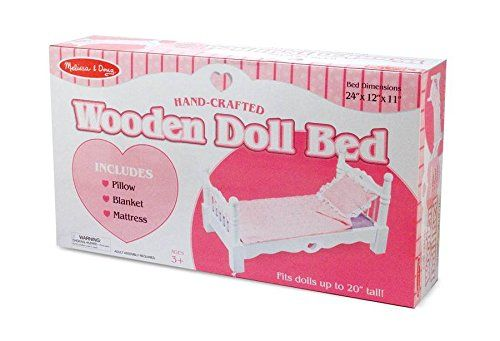 Melissa & Doug Deluxe Wooden Doll Furniture - Bed...