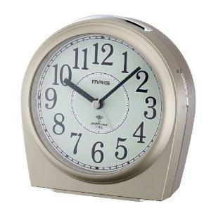 Fossil Watches Sale - MAG(マグ) 電波アナログ置き時計 サージェント 畜光文字板 シャンペンゴールド T-602CGM | 最新の時間センター