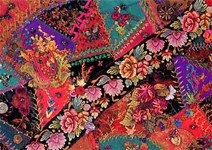 Judith Baker Montano's embroidery.  Love it!!: Color, Montano Th Queen