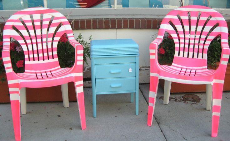 17 meilleures id es propos de peindre des chaises en plastique sur pinteres - Ikea chaise plastique ...