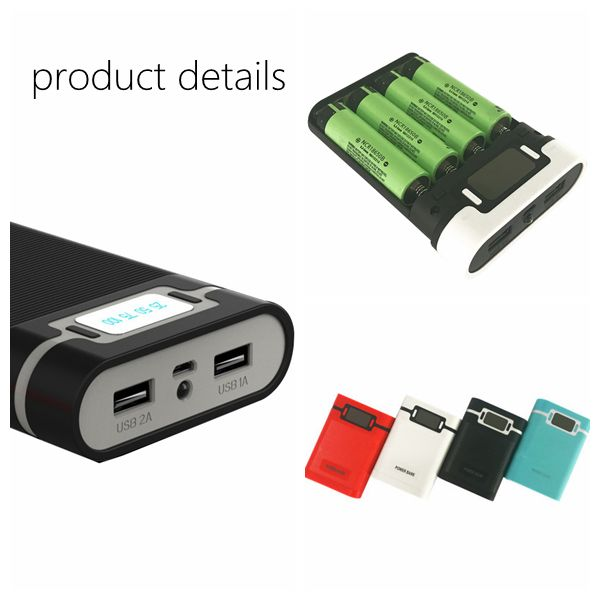 Bakeey 4x18650 Battery Dual USB LED Display Charger Power Bank Case Box DIY Kit for iPhone 8 S8 Plus