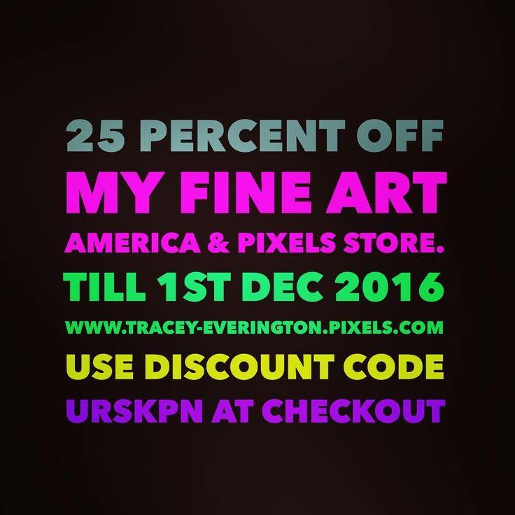 25% discount code, Fine Art America