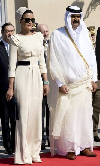 Vanity Fair Best-Dressed List 2012 Sheikha Mozah Bint Nasser of Qatar in Ralph & Russo Custom Couture