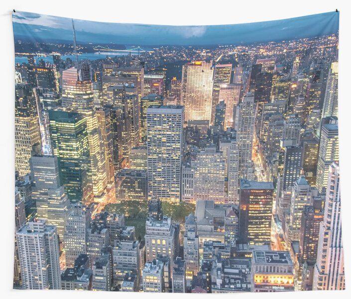 New York City Skyline Tapestry New York City Photos City Skyline Ny Trip