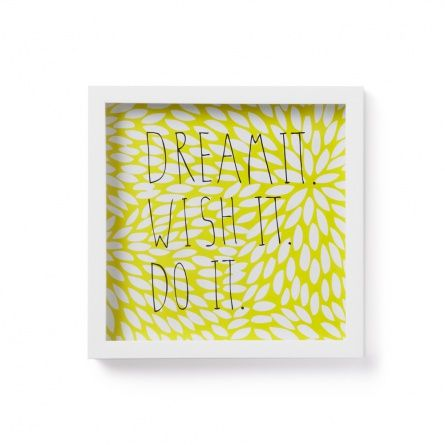 Декор для стен Dream it желтый/белый — купить в интернет-магазине ЕnjoyMe — Москва, Санкт-Петербург