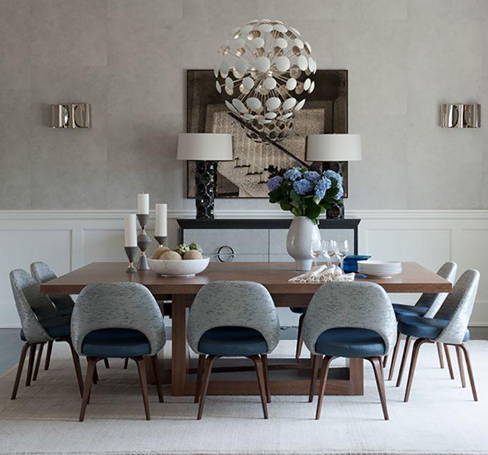 Eero Saarinen's Executive Chair at a Bridgehampton residence by Weitzman Halpern