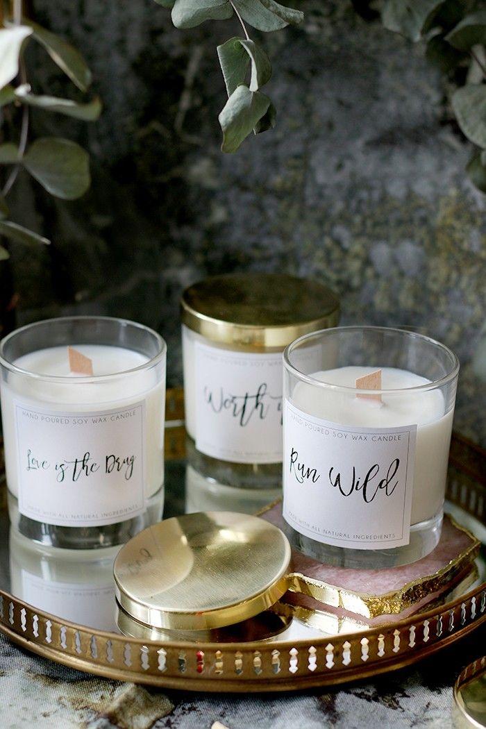 Diy Holz Docht Kerzen Mit Sojawachs Atherischen Olen Und Frei