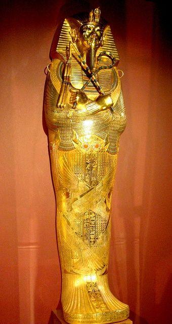 Third coffin of Tutankhamen. #coffin #ancientegyptian #tutankhamon…