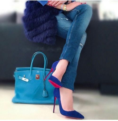 Hermes Birkin in blue