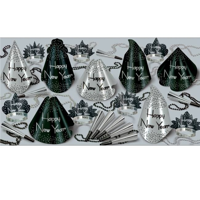Sparkling Silver 25 Person New Year Kit Party Kit New Years Eve Party Silver Party