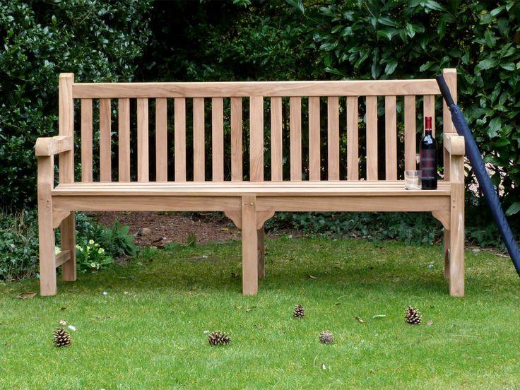 Balmoral Teak Garden Bench 180cm | Teak Memorial Garden Bench Seat
