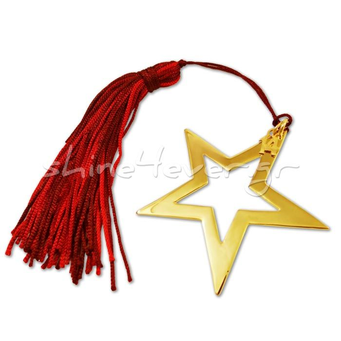Gold-plated star. A lucky charm by shine4ever.gr