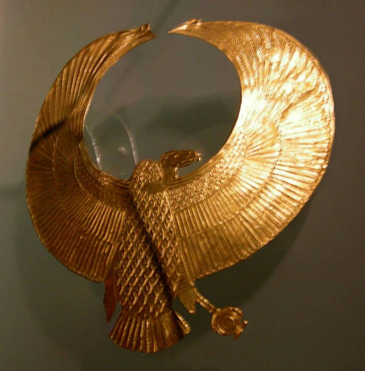 Royal vulture pectoral which was found placed on the head of the mysterious late 18th Dynasty Pharaoh in Tomb KV55 of the Valley of the Kings.This king was either Akhenaten or Smenkhkare of the Amarna period.