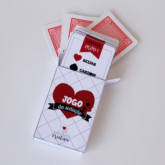 DIY Valentine's Day: Jogo de Cartas Picante #cartasromanticas